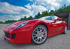 Ferrari 599 6L V12 (Mister Oy) Tags: davegreen oyphotos oyphotos red ferrari 599 60l v12 sportscar fast wideangle threesistersracecircuit fujixe2 fuji1024mm rgb
