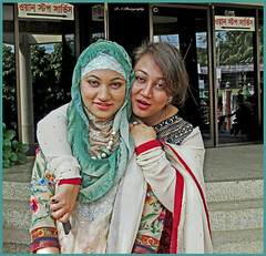 Sisters (dark-dawud) Tags: sisters sylhetregion bangladesh portrait asia asians bengali beauty beautiful pose happy reflections store shop
