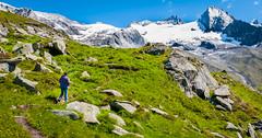 Zillertal_075  Hochgebirgs-Naturpark Zillertaler Alpen (wenzelfickert) Tags: zillertal alpen tirol umgmayrhofen zillertaleralpen wiese meadow bergmassiv schnee snow landschaft landscape berge mountains sterreich austria frau woman mensch weg way wanderweg trail wanderer hiker wandern hiking gletscher glacier