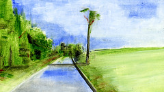 route 33 (Frdric Glorieux) Tags: frdricglorieux france route road peinture painting a4 acryl