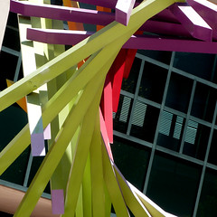"""here is """"there"""" (msdonnalee) Tags: sculpturedetail sculpture escultura abstractreality window janela ventana reflection finestra fenster oaklandcitycenter"""