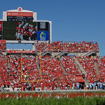 Field-level view of Carter-Finley Stadium; 2013.