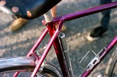 Jo Routens seat stays (Karibouski) Tags: joroutens bourdel vintage bicycles frenchconstructeur constructeur randonneur randonnee ffct edelbikes victoirecycles randobro randovibes french goldenage handbuiltbicycles canon ishootfilm analog filmisnotdead