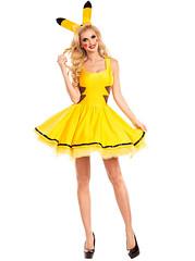 Pikachu Animal Roles Yellow Women Halloween Costume with Headwear (vickischumacher) Tags: halloween halloweencostume halloweencostumes cosplay cosplaycostume girlcosplaycostume