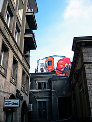 A colourful side of Magheru (Corina -) Tags: street city building graffiti boulevard cartoon romania bucharest bucuresti carturesti magheru