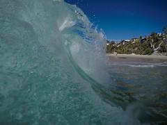 Tropical & Clear (c_kreature) Tags: ocean california ca beach water waves tube wave curl orangecounty theoc lagunabeach norrinradd thousandsteps oceanphotography beachphotography blackedition waterphotography goprohero4