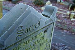 sacred in bushbury (downhamdave) Tags: uk england west church saint st yard canon eos frost raw dof headstone mary marys sacred gravestone churchyard acr midlands wolverhampton 60d bushbury elements10