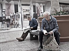 540 of 730 - Time to kill. . (Hi, I'm Tim Large) Tags: street old man male men guy photography reading book newspaper fuji seat read mature older fujifilm 365 retired seated 540 18mm xf xe1 timlarge tacraftphotography tacrafts timothylarge