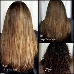 Before & After Ethnic Highlights (GildedCharms) Tags: hair highlights beforeandafter colorcorrection balayage schwarzkopf cooltones longlayers erikaloya flamboyage olaplex l