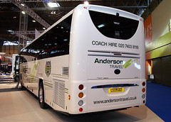 Anderson Travel Volvo B8R Plaxton Leopard (chrisbell50000) Tags: show uk travel england bus volvo back coach birmingham expo euro centre united rear transport kingdom exhibition deck anderson national leopard single end passenger nec midlands decker 2014 plaxton chrisbellphotocom b8r eurobusexpo2014