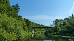 Railway bridge over the river Schwentine at Kiel-Oppendorf... (Lullabay 61) Tags: deutschland landschaft kiel schleswigholstein schwentine