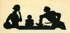 "Bild 3 aus dem Heft  ""Der Lehrling"" (altpapiersammler) Tags: old silhouette illustration vintage alt silueta scherenschnitt schattenbild   moritzdiesterweg kranzbcherei fritzmllerpartenkirchen"