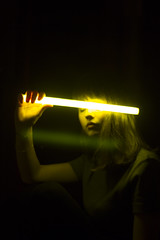 (Caemelie) Tags: light portrait yellow self giant glowstick selfie caemelie