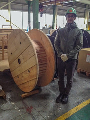 Me with cable roll (marc_buehler) Tags: japan moi ibarakiken tsuchiurashi
