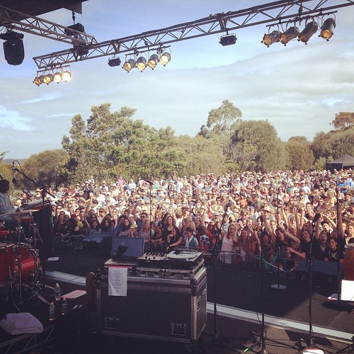 Turned out to be a nice day for an outdoor gig after all! Thanks people of Hobart and wider Tasi!
