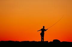 0554A254 (jgphoto1us) Tags: boy sunset summer people sports boys silhouette sport kids youth children person kid fishing alone child mr massachusetts newengland sunsets flyfishing marthasvineyard boyhood