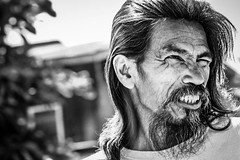 Tough Guy (philwarren) Tags: poverty beard hope goatee pain homeless poor hard filipino harsh