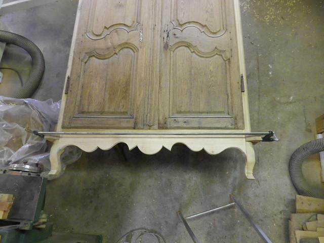 Fabrication de dormant en chêne Esprit LOUIS XV