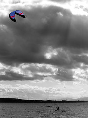 Kite Surfer (SimonDonald) Tags: sea kite sport scotland surfer kitesurfing kitesurfer