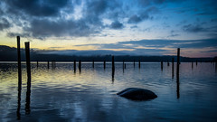 Still Waters (DaCondor62) Tags: seattle sky reflection water colors beautiful clouds sunrise photography washington nikon sound posts puget 2470 nikor
