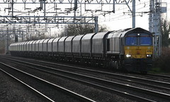 GBRf 66749 (uksean13) Tags: train canon grey transport rail railway chorlton freight class66 gbrailfreight ef70200mmf4lusm 400d gbrf 66749