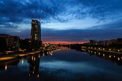 Osthafen bei Sonnenaufgang-ee2255de-fbf4-442d-8cbe-a35179d80d3a (stefansindel) Tags: frankfurtammain ezb osthafen