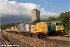Storm on the Horizon (Resilient741 Photography) Tags: tractor train grid leicester main class line depot locomotive 37 56 midland mml railfreight 37906 fertis