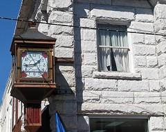 THE CLOCK ON MAIN STREET (NC Cigany) Tags: clock window nc mainstreet downtown granite mountairy mayberry
