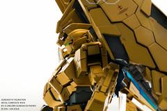Unicorn Gundam Phenex (I AM LESLIE) Tags: toy gold robot gundam unicorn mecha bandai 1100 gunpla gff fixfiguration rx0 metalcomposite phenex