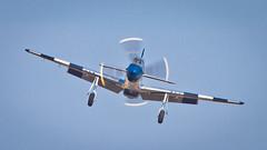 Warbird coming atcha! (Janet Marshall LRPS) Tags: aircraft mustang shuttleworth warbird p51d propblur