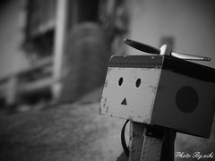21 (eikidoll_666) Tags: blackandwhite monochrome toy outdoor figure toyphotography outdoorphotography danboard   outdoortoyphotography
