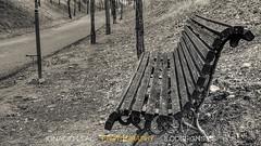 The bench (ILO DESIGNS) Tags: road monochrome rural bench camino fineart banco monocroma fotografadeautor