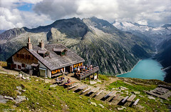Zillertal Alps near Mayrhofen (Robert J Heath) Tags: lake alps water austria reservoir mayrhofen summits finkenberg mountainhuts