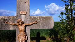 INRI (rainbowcave) Tags: shadow clouds sunny crucifix inri sonnig schatten rheinhessen kruzifix wegekreuz kleinwinternheim