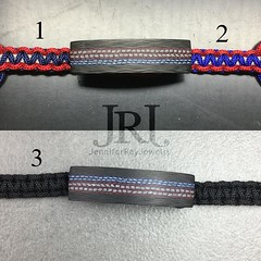 Which do you like? I came up with 3 options for the Liberty band. My fav is #3 some how I always comeback to just plain black LOL  #jenniferrayjewelry #jrj #carbonfiber #carbonfibre #liberty #merica #pewpew #4thofjuly #independence #menswear #handcr (JenniferRay.com) Tags: ray jennifer jewelry carbon custom fiber exclusive paracord jrj instagram