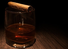 Luxury whiskey glass with cigar (noor.khan.alam) Tags: life wood black glass up horizontal closeup dark high close drink background space smoke rich beverage style whiskey nobody cigar liquor alcohol precious passion whisky rum brandy expensive copy addiction luxury lux extra brandywine russianfederation valuable zzzaagaaaifceffafpdidfdgde