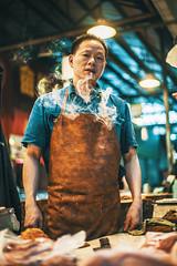 Butcher (Vasco Reis Ruivo) Tags: china street portrait people rollei photography 50mm asia smoke sony portraiture f18 lishui a7s palnar