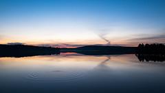 Circles (jarnasen) Tags: light sky lake mountains nature water night clouds landscape twilight mood fuji sweden outdoor dusk horizon tripod wide wideangle calm serene sverige jmtland landskap xt1 nordiclandscape fujifilmxt1 xf1024mmf4 jrnsen