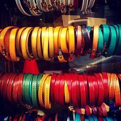 bracelets! (francesca giordano 3) Tags: leather florence tour artesanal bracelet firenze guide tourguide cuoio artigianato guidaturistica