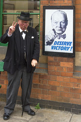 Winston (Kev Gregory) Tags: world 2 england station prime war britain weekend great 1940 central railway victory event 1940s ii churchill gregory kev winston reenactor loughborough minister wartime deserve gcr