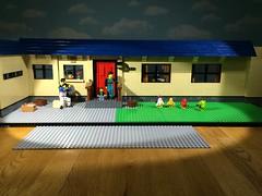 Larger-scale build! (woodrowvillage) Tags: house birds toy lego mini legos angry figure build brickfilm minifigure moc
