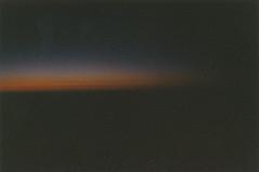 Last Light (Kelly Marciano) Tags: light sunset orange film analog 35mm lowlight pretty dusk horizon goinghome dreamy analogue dust lastlight filmgrain colornegativefilm somewhereovertheeastcoast