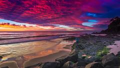 """""""froggies pink sunrise (rod marshall) Tags: sunrise snapperrocks bestsunrise sunrisesnapperrocksbestsunrise pinksunrise oceansunrise"""