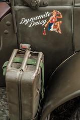 Dynamite! (ericbaygon) Tags: woman car army nikon paint peinture daisy dynamite pinup nikonpassion d300s jerricane