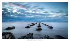 Sea Defence (Phil Durkin) Tags: 2016 clouds england merseyside newbrighton perchrock sea thewirral uk beach cloudscape daytime groynes longexposure seadefence shore shoreline summer tide waves