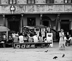 relaxing in B&W (archidream) Tags: bw biancoenero blackwhite relax relaxing riposo guardare ammirare mirasofia tuorism tourist china florence firenze piazzasantacroce santevisioni psc basilicadisantacroce
