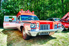 1971 Oldsmobile ambulance (hz536n/George Thomas) Tags: deer acres 2016 cs5 canon canon5d ef1740mmf4lusm michigan pinconning summer carshow copyright linwood upnorth ambulance deeracres olds oldsmobile