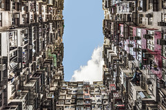 (DiagonSally) Tags: china city travel urban building tourism colors up look architecture buildings hongkong cityscape colours looking chinese cities tourist crowded slums