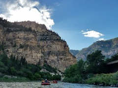 Rafting through White River in Glenwood Springs, Colorado (JiggieSmalls) Tags: canyon hill color river nature boat raft rafting