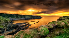 Bromore Sunset (Ray Moloney Photography) Tags: ifttt 500px sunset sky clouds ocean seascape coast water rocks summer waves beach bromore kerry ireland county popular tags orange green flowers cliffs